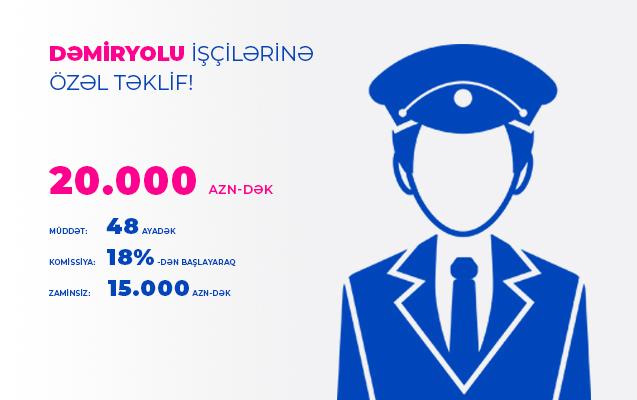 Кредитная кампания для работников железной дороги от Международного Банка Азербайджана!
