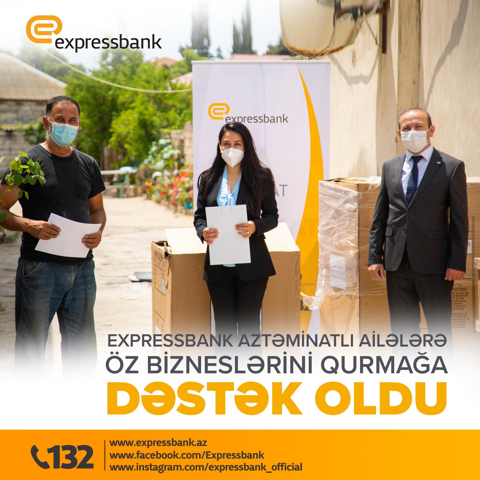 Expressbank aztəminatlı ailələrə dəstək göstərməyə davam edir!
