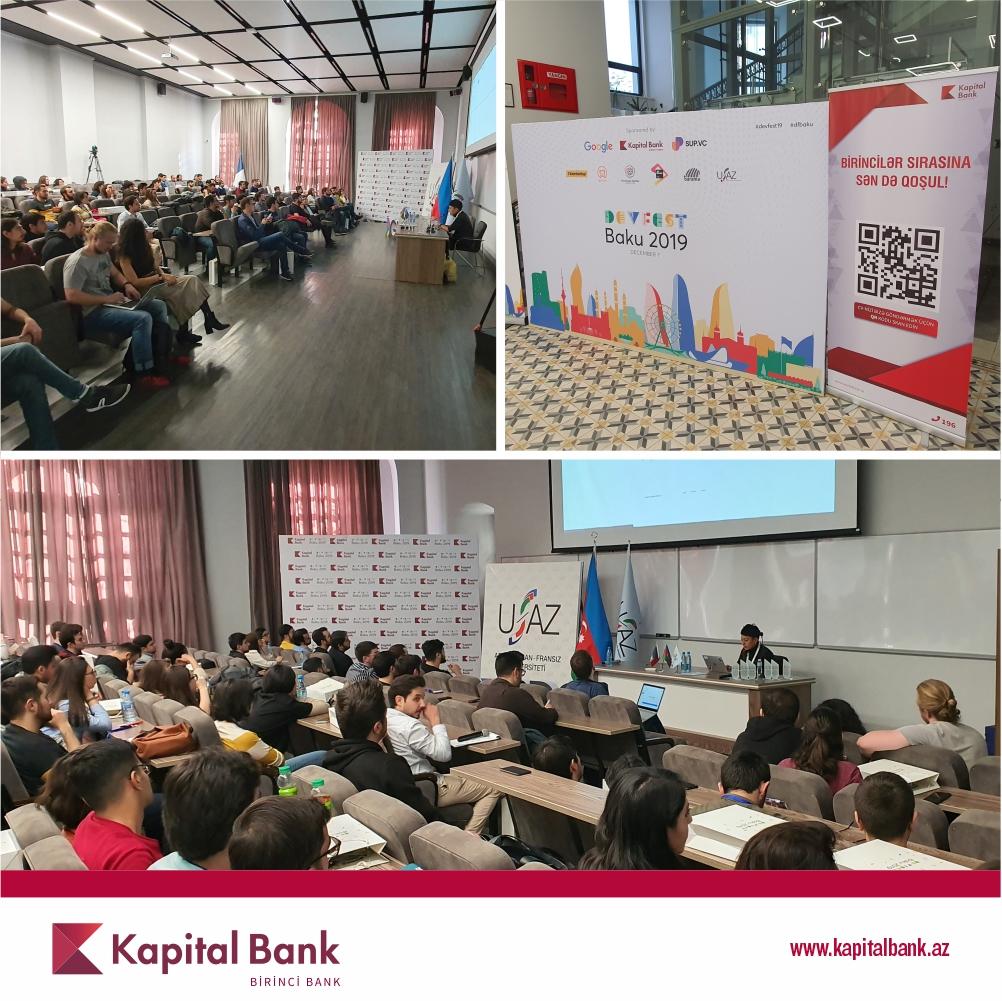 Kapital Bank оказал поддержку международному мероприятию «BakuDevFest 2019»