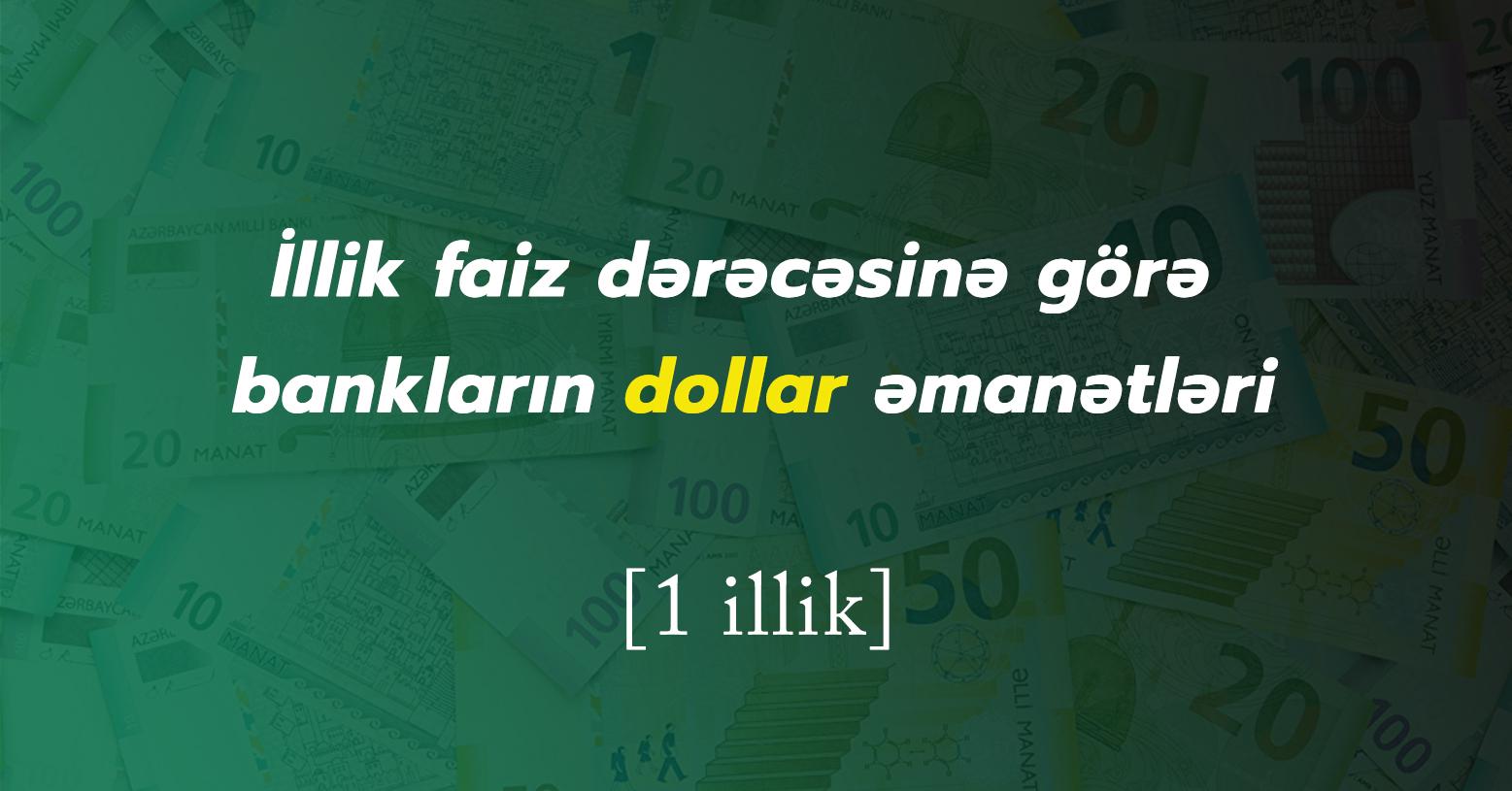 Dollar əmanəti hansı banklarda daha sərfəlidir? - Yanvar 2021