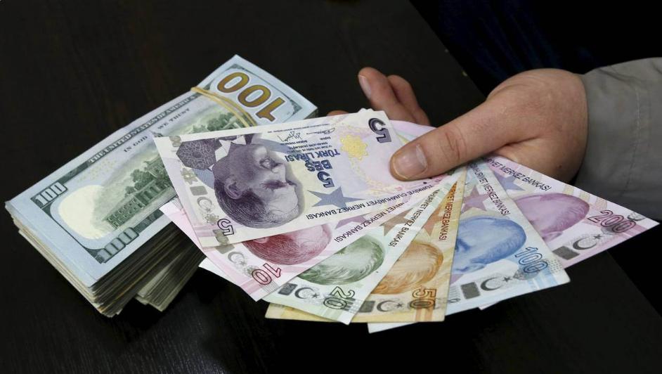 Türkiyədə dolların məzənnəsi 3,45 lirəyə düşüb
