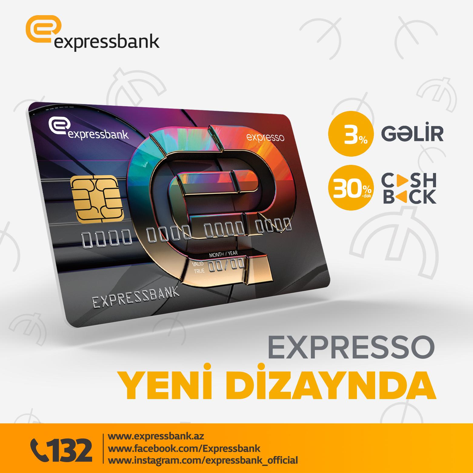 Məşhur Expresso kartı yenilənmiş dizaynda!