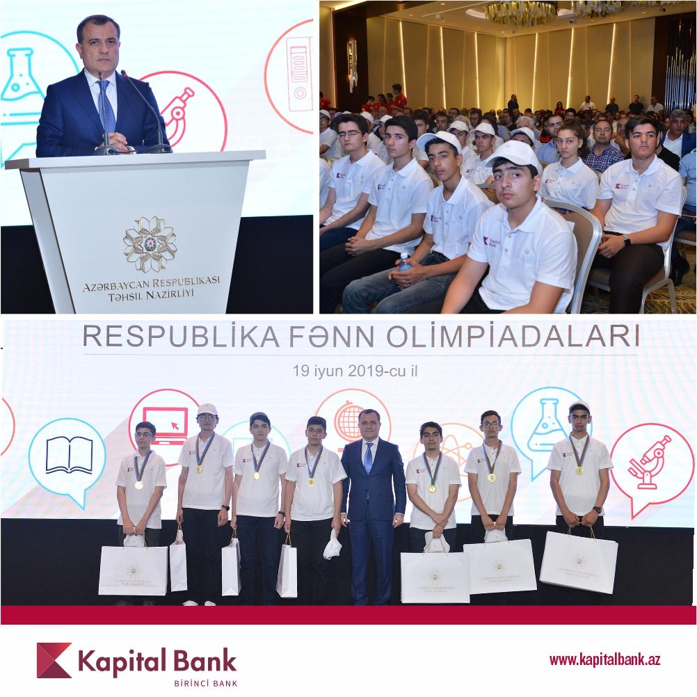 Награждены победители Школьной Олимпиады, проводимой при поддержке Kapital Bank