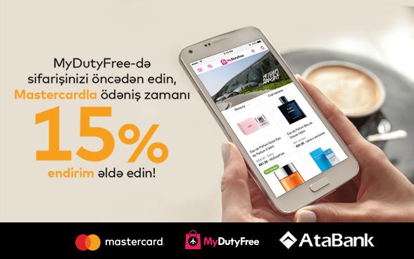 AtaBank Mastercard debet və kredit kart sahiblərinə 15% endirim təklif edir!