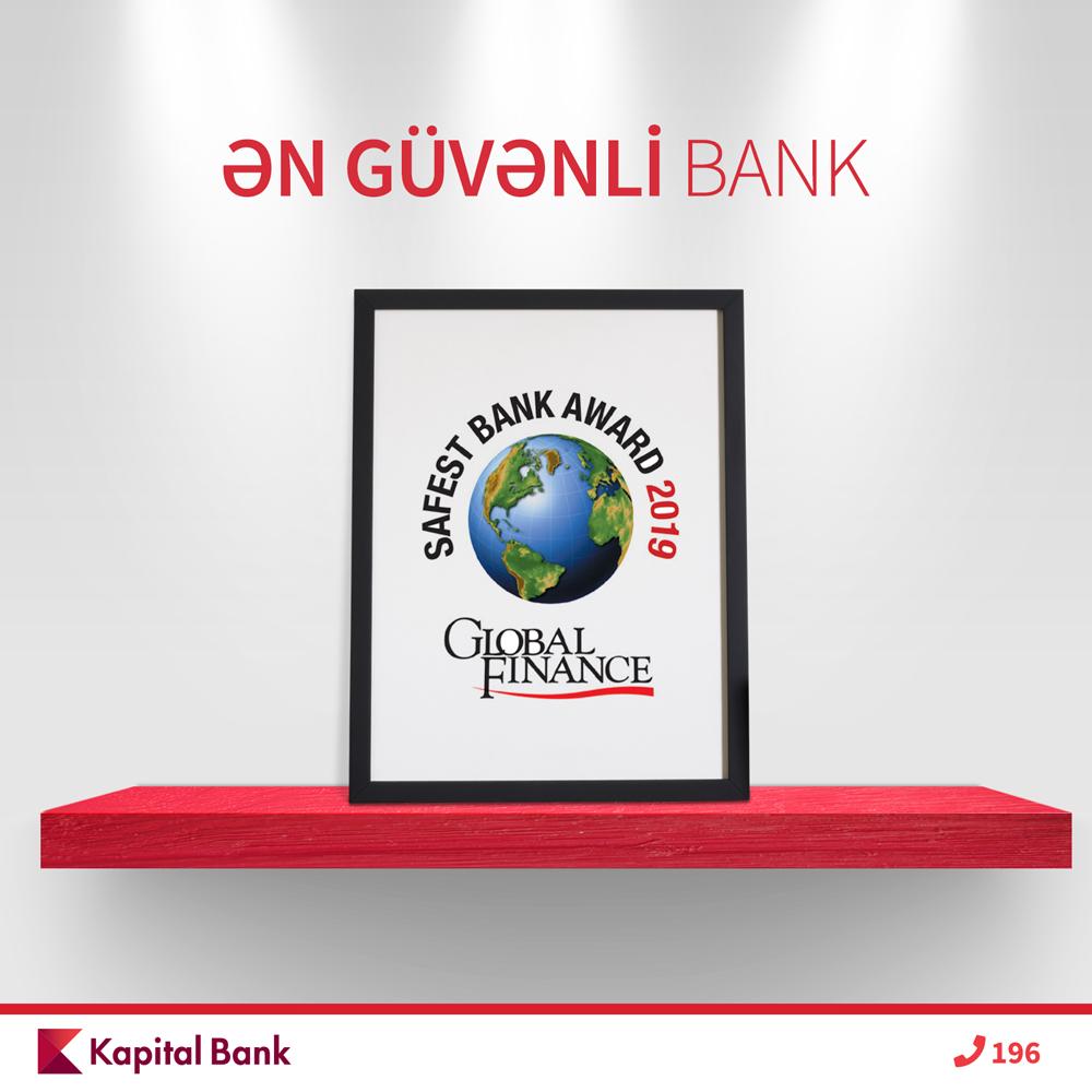 Kapital Bank вновь назван «Самым Надежным Банком» Азербайджана