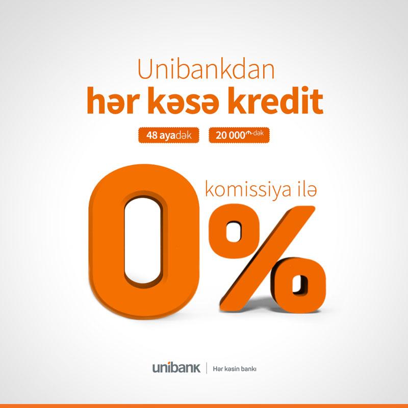 Unibank предлагаетналичные кредиты для всех с 0% комиссией