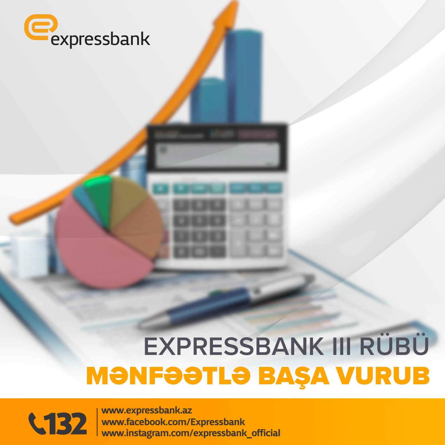 Expressbank 2020–ci ilin III rübünü mənfəətlə başa vurub