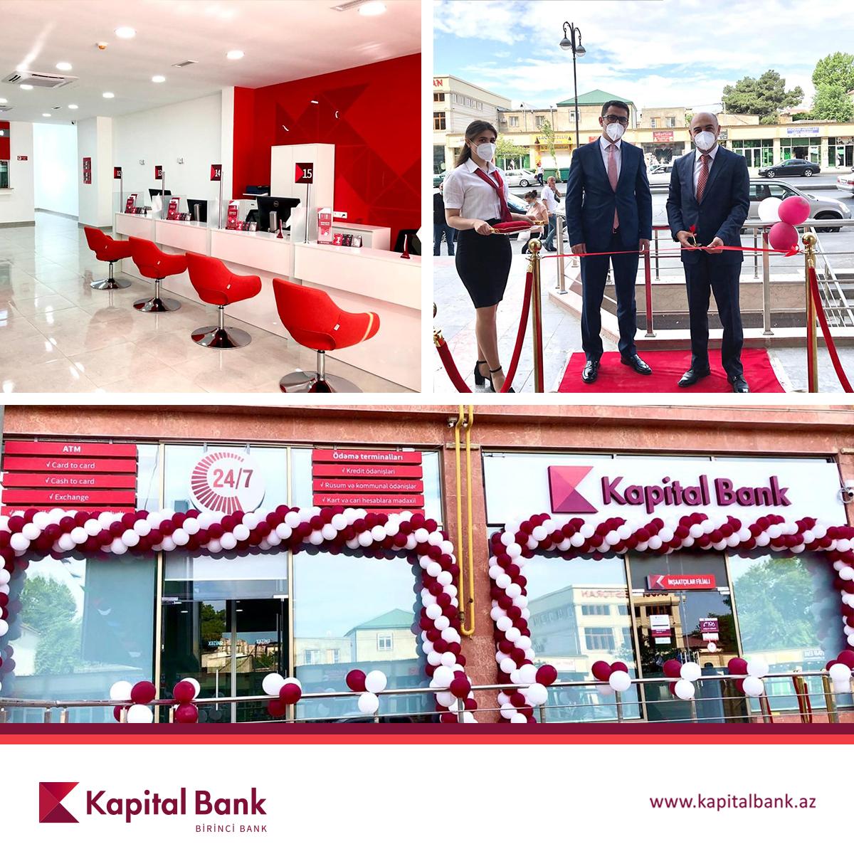 Kapital Bank представил новый филиал «Иншаатчылар»