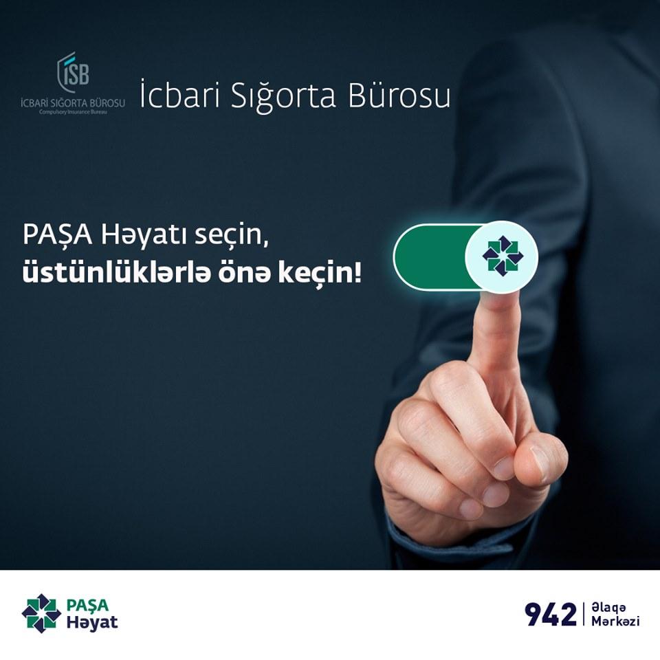 PAŞA Həyat – İcbari Sığorta Bürosunun portalında