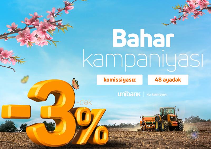 Unibank biznes sahibləri üçün Bahar kampaniyasını davam etdirir