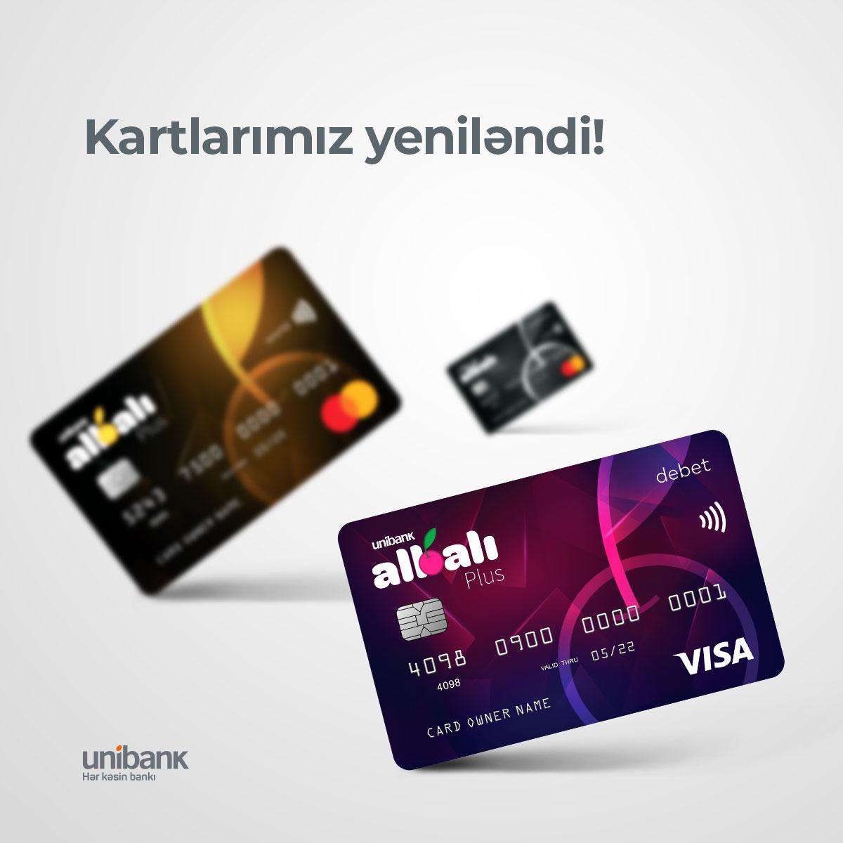 «Unibank» обновил карты Albalı Plus