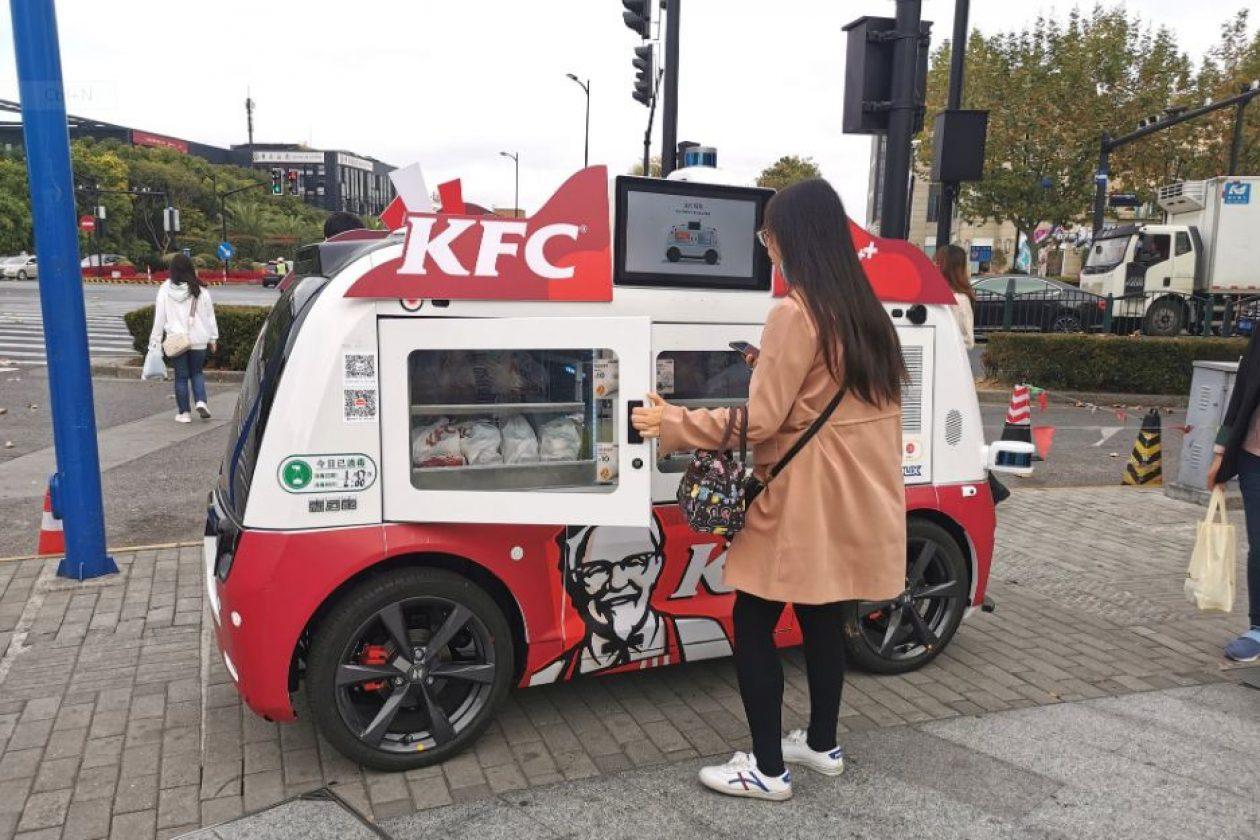 KFC sürücüsüz qida avtomobillərini istifadəyə verdi