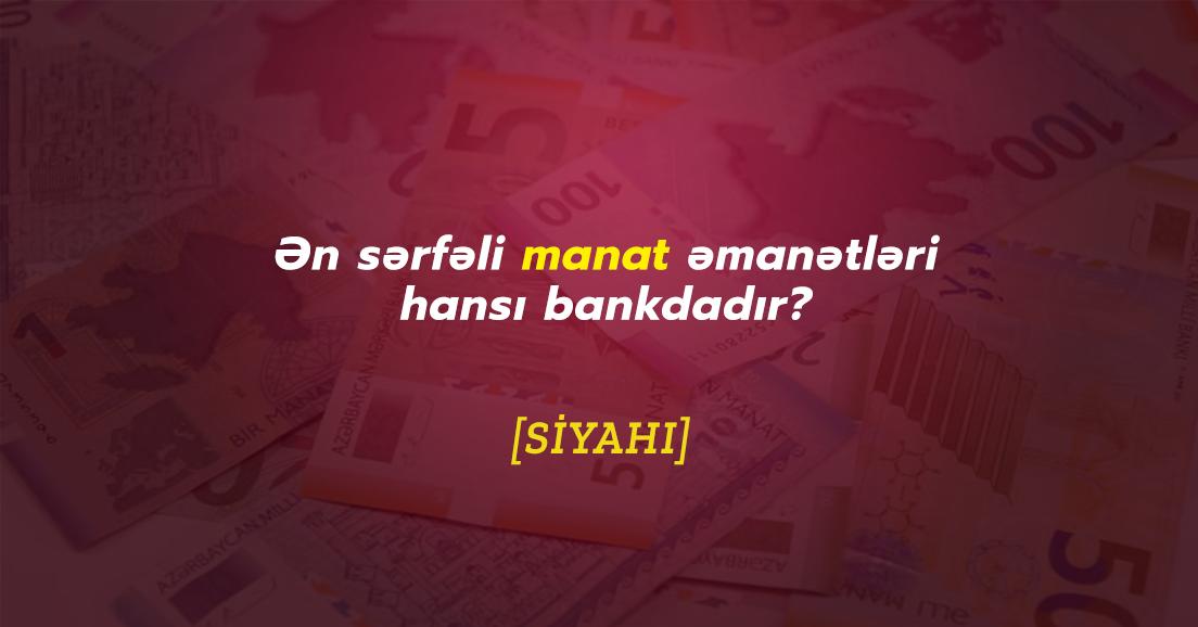 Manat əmanətinin sərfəli olduğu banklar(2 illik) - Fevral 2020