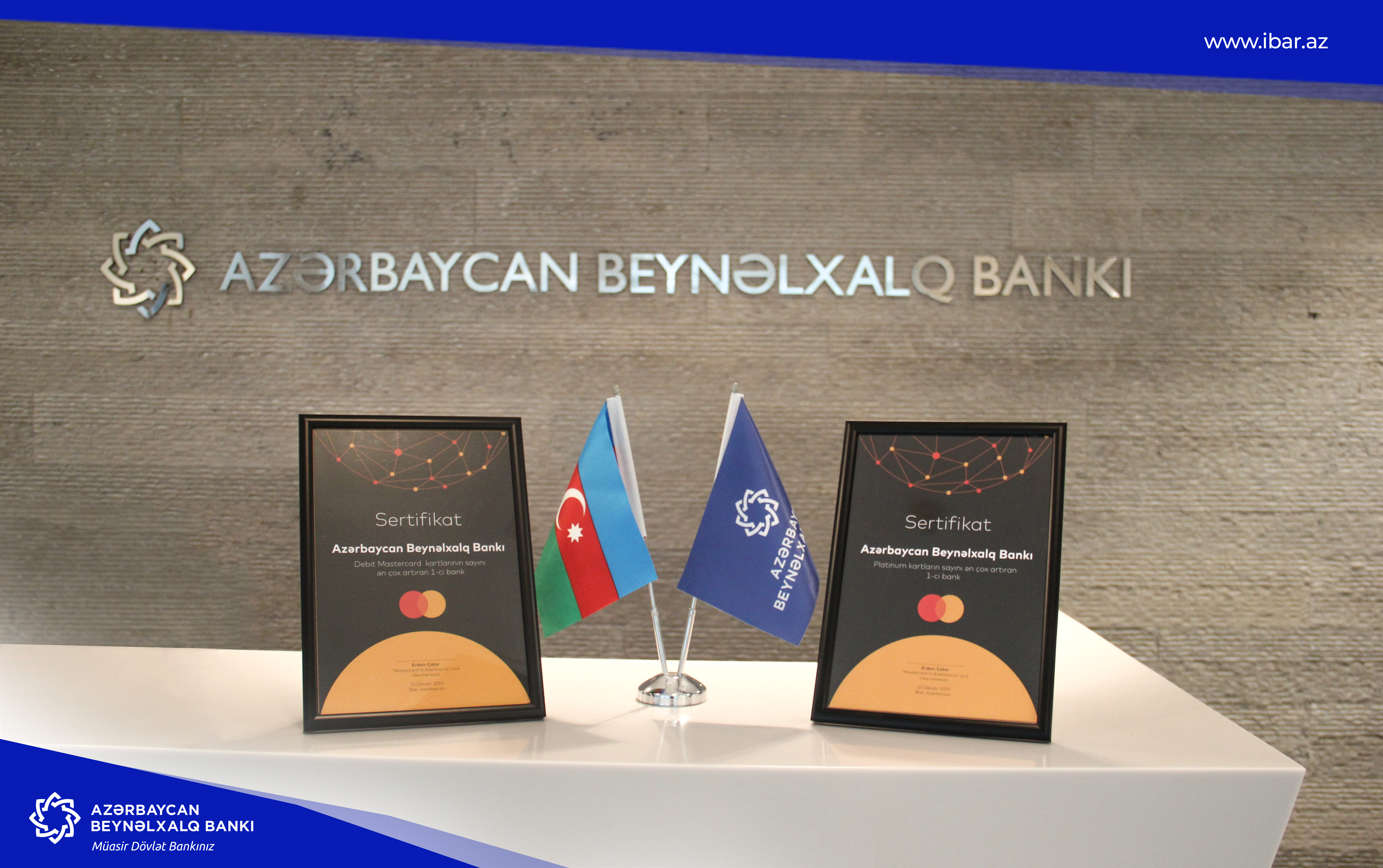 MasterCard вручило Международному Банку Азербайджана две награды