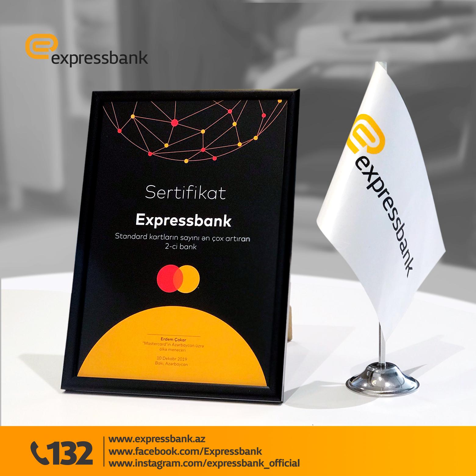Expressbank növbəti mükafatını aldı!