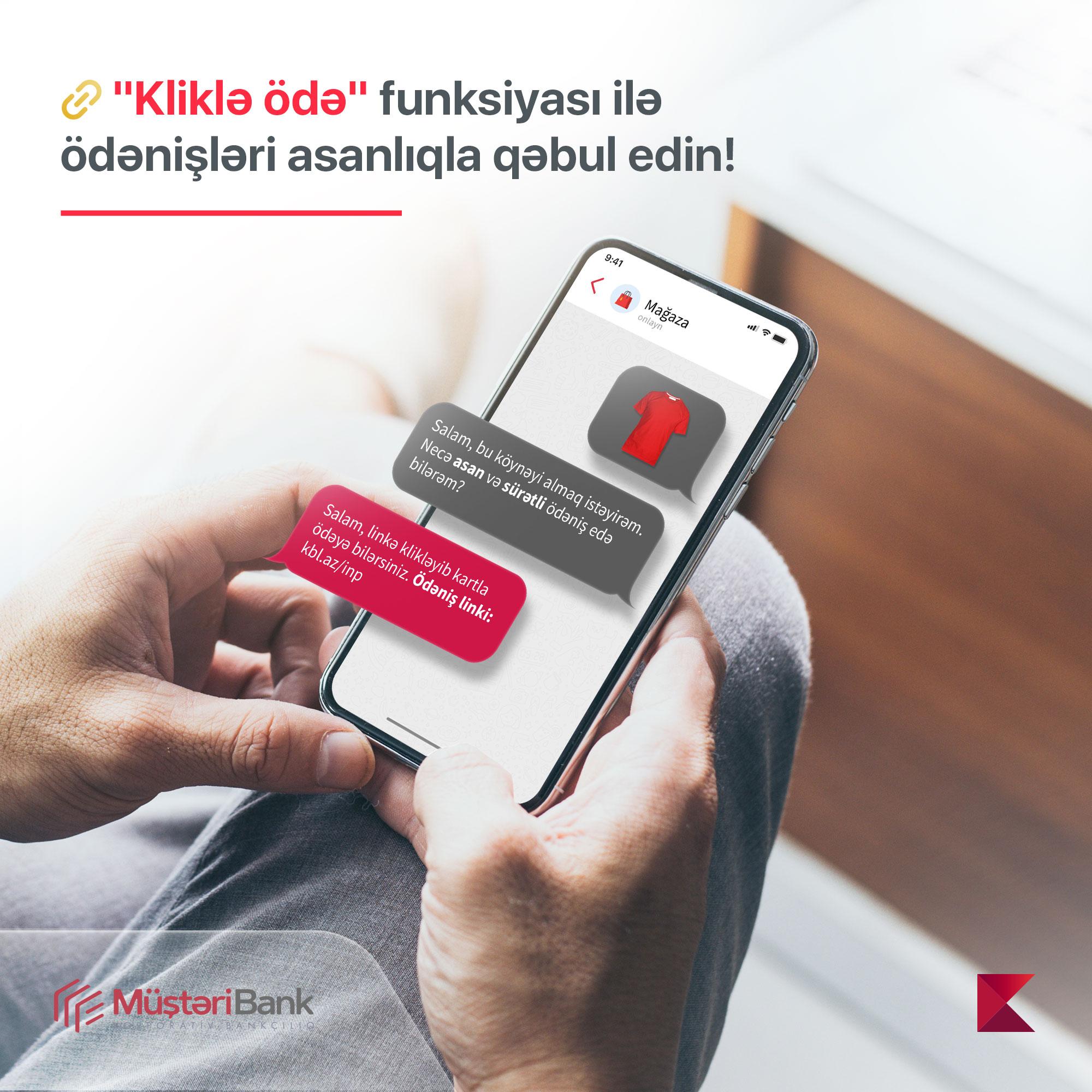 Kapital Bank представил новую услугу «Kliklə ödə»