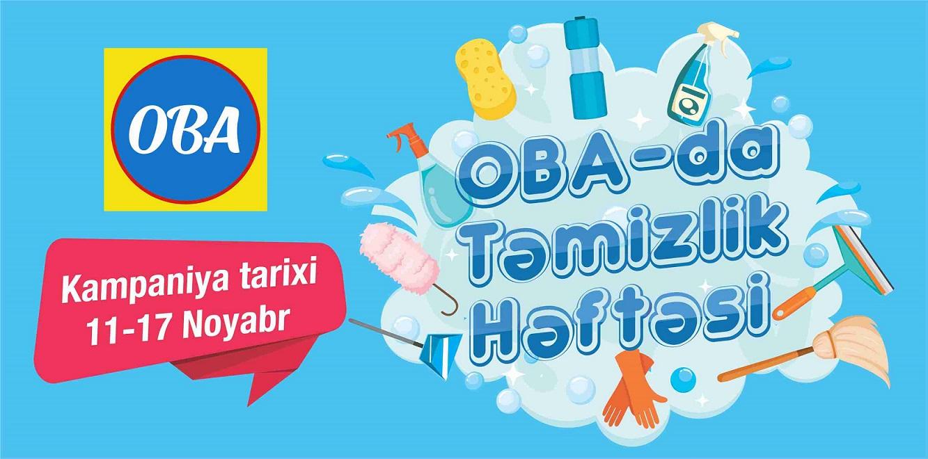 """OBA marketlərdə endirimli """"Təmzilik həftəsi"""" kampaniyası başlayıb"""