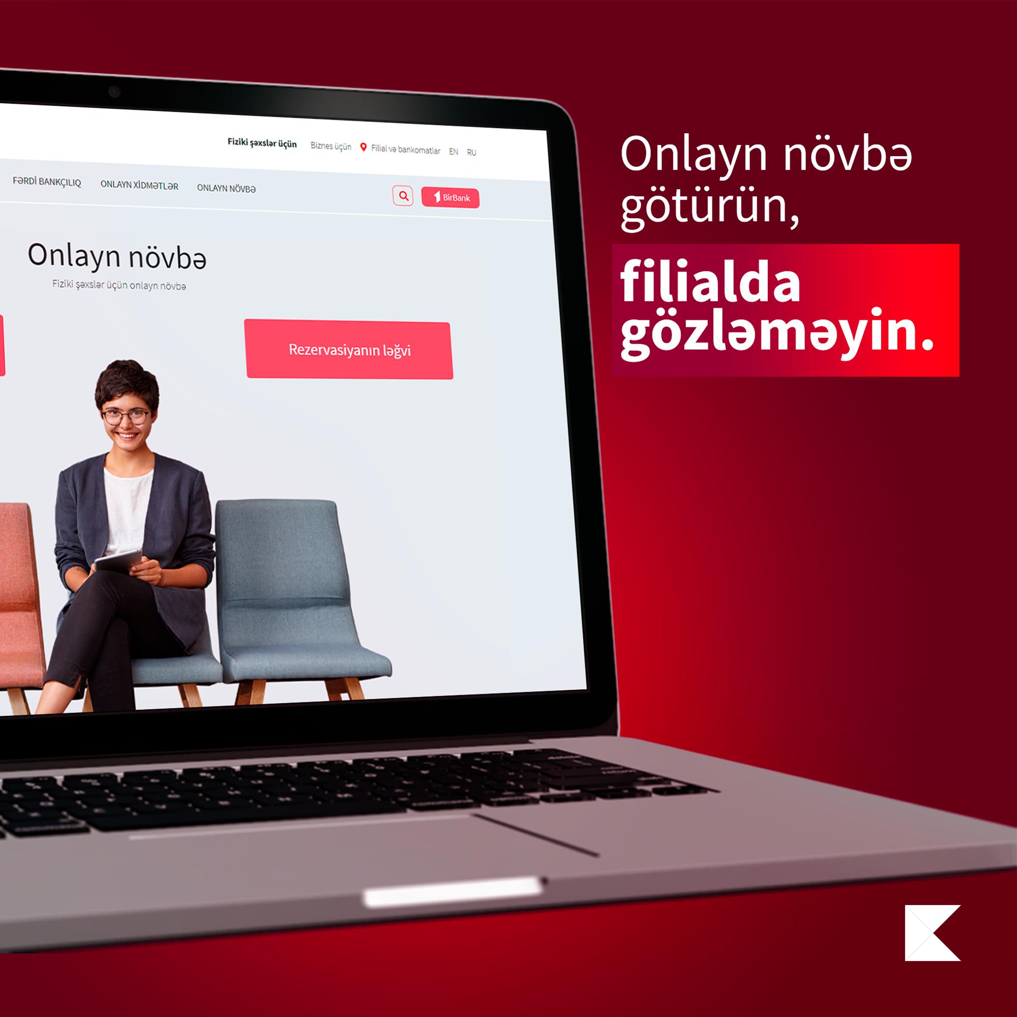 Kapital Bank предоставил услугу онлайн-очереди и для физических лиц