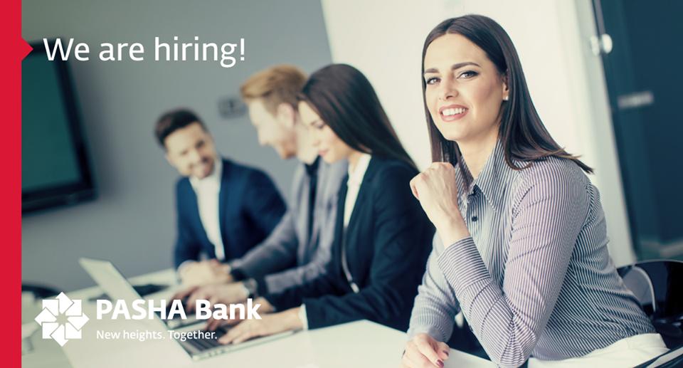 Pasha Bank 11 Yeni VAKANSİYA elan edir!