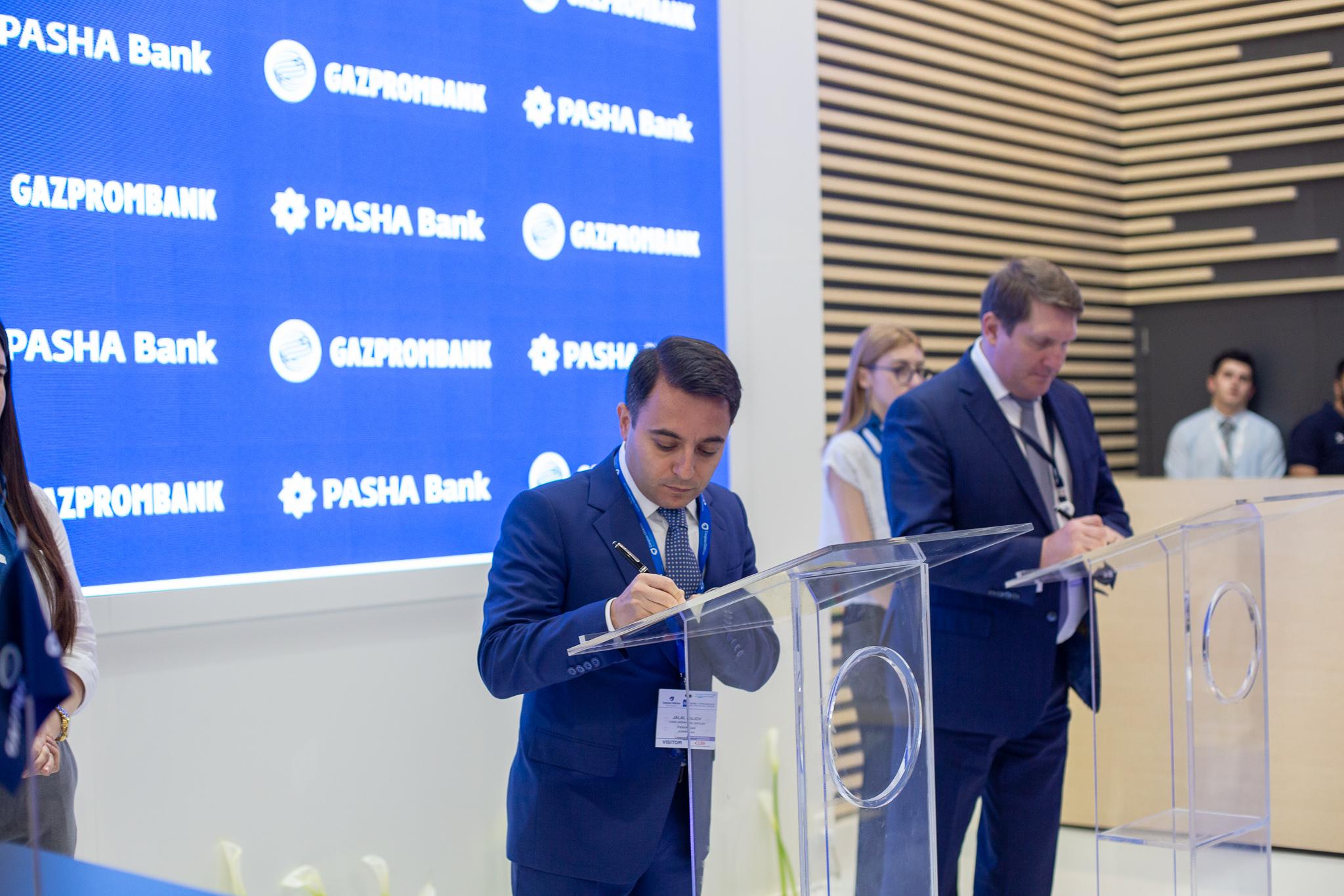 PASHA Bank подписал с Газпромбанком соглашение о сотрудничестве