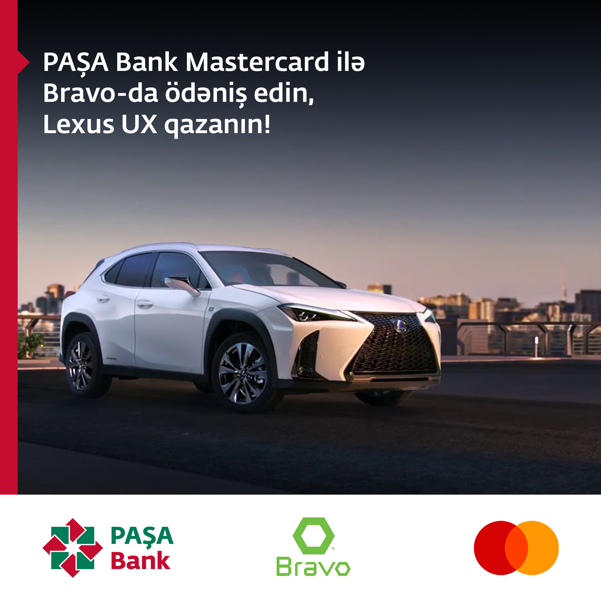 PAŞA Bank Mastercard kart istifadəçiləri Lexus UX və iPhone XS qazanma şansını əldə etdilər