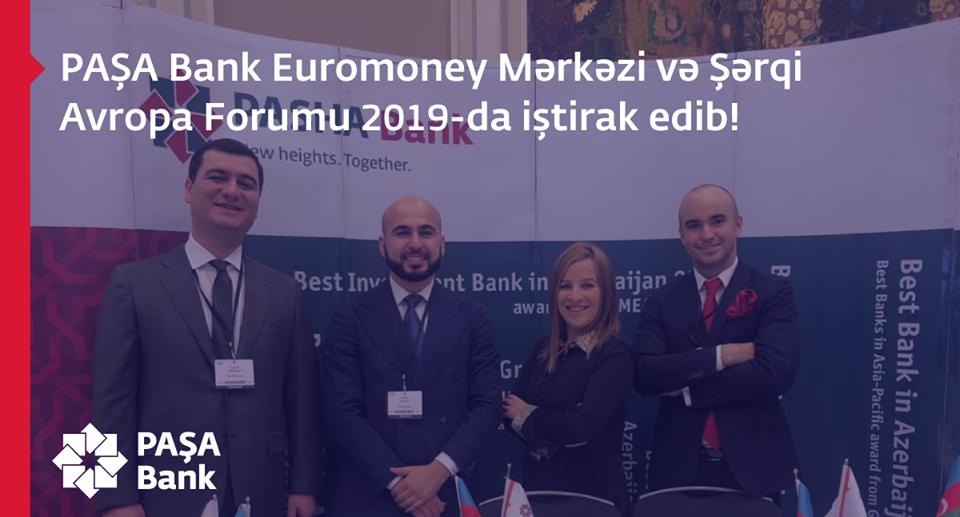 PAŞA Bank Euromoney Mərkəzi və Şərqi Avropa Forumunda iştirak edib