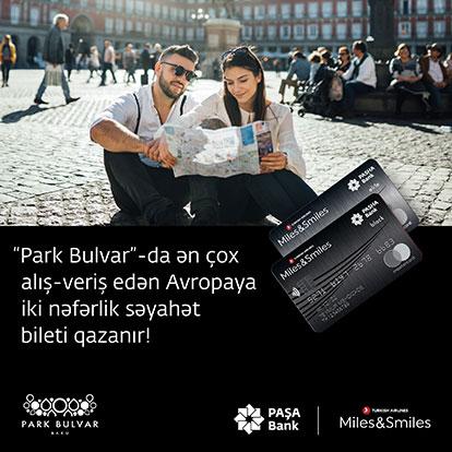 Владельцы карт PASHA Bank Miles&Smiles получают подарки в Park Bulvar!