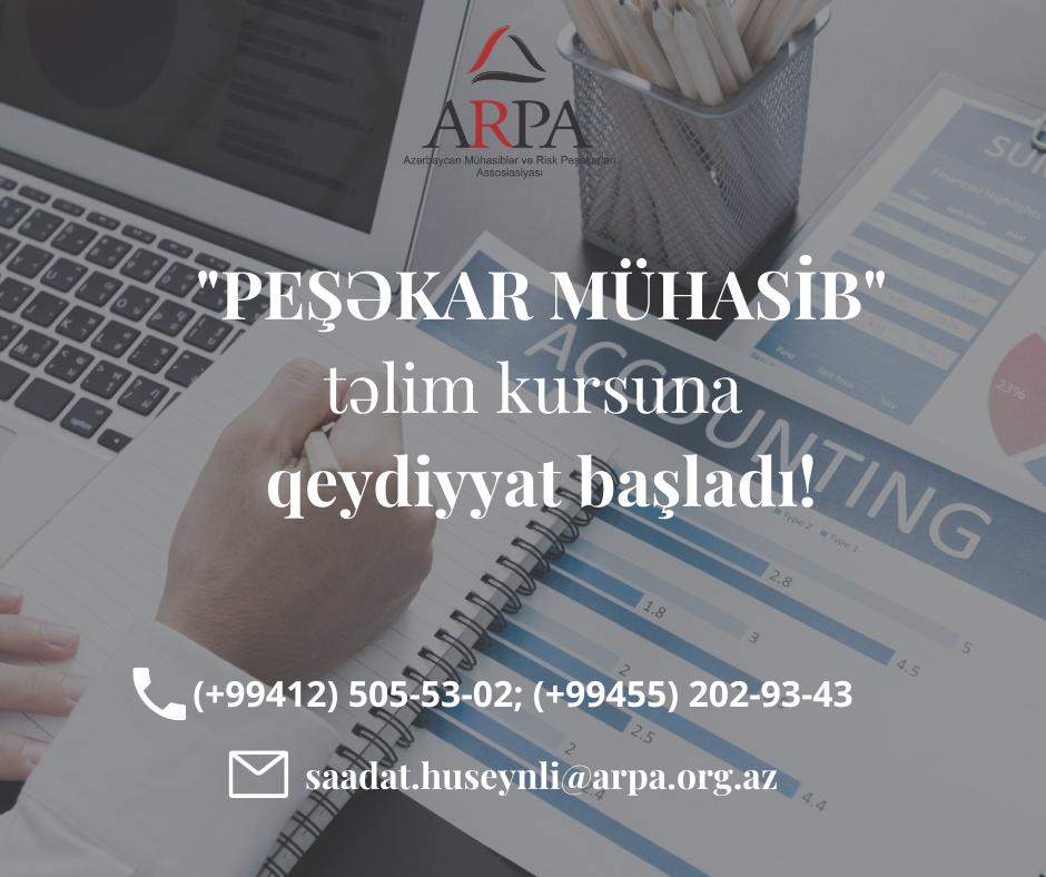 """""""PEŞƏKAR MÜHASİB"""" təlim kursuna qeydiyyat başladı!"""