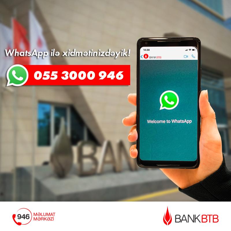 Bank BTB представляет широкий спектр услуг через WhatsApp!