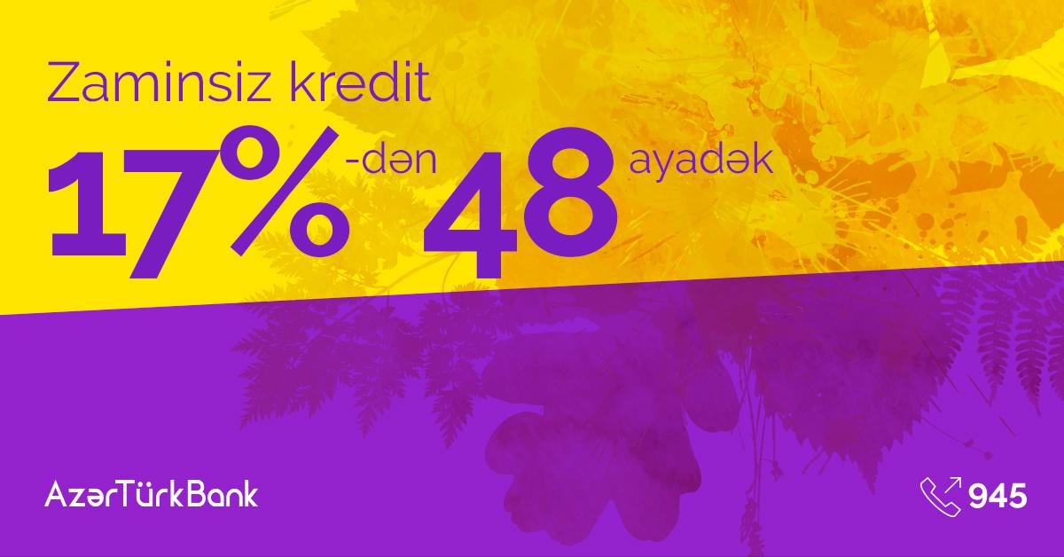 AzerTurk Bank запускает кампанию «Этой осенью покупай, что хочешь!»