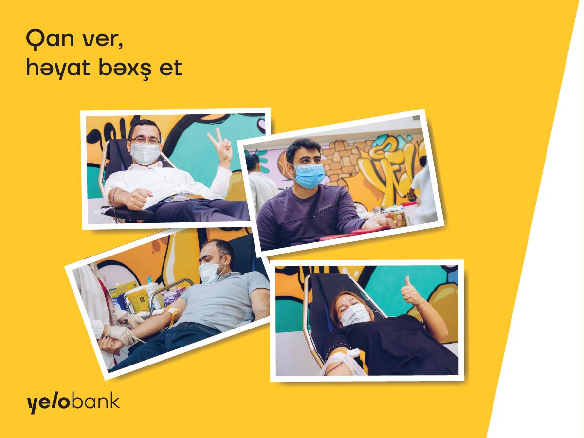 Yelo Bank провел акцию «Сдай кровь, подари жизнь»