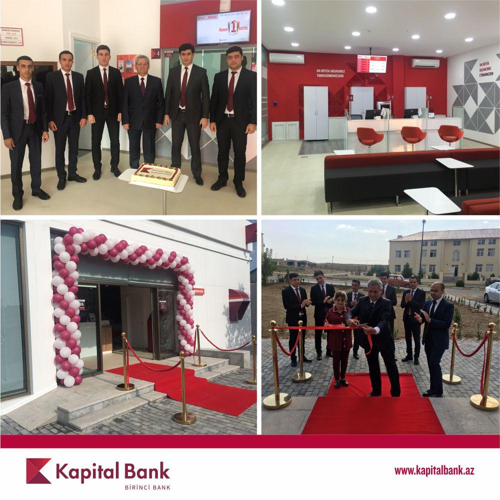Kapital Bank-ın yenilənən Qobustan filialı istifadəyə verildi