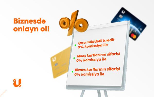 Unibank biznes üçün onlayn məhsulları komissiyasız etdi