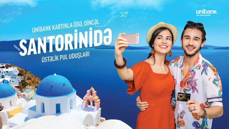 Unibank müştərisi lotereyada Santoriniyə SƏYAHƏT PAKETİ QAZANDI
