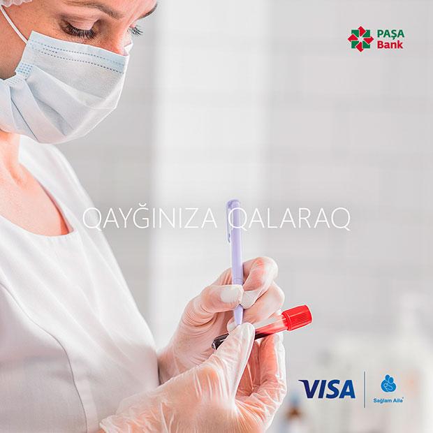 PAŞA Bank Visa kartınızla tibbi xidmətlərə endirim əldə edin!