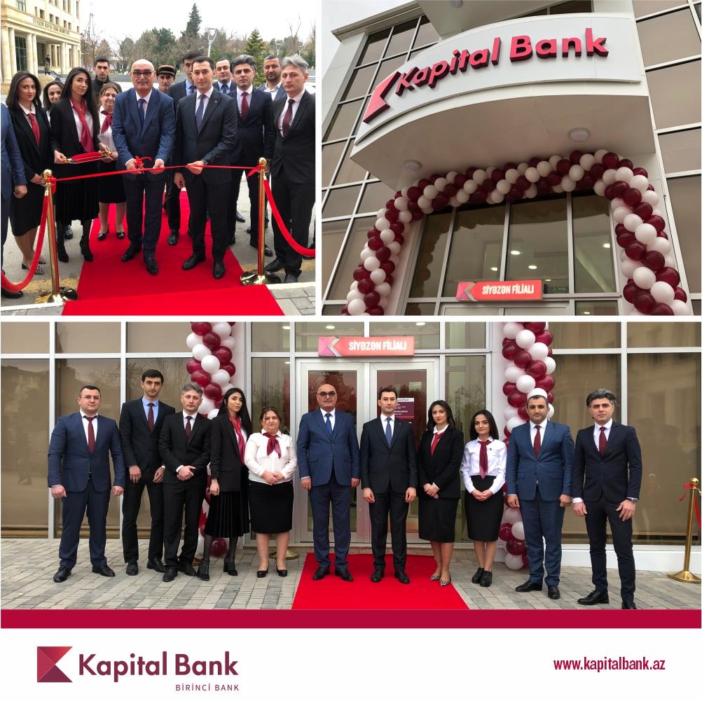 Kapital Bank yenilənən Siyəzən filialını istifadəyə verdi