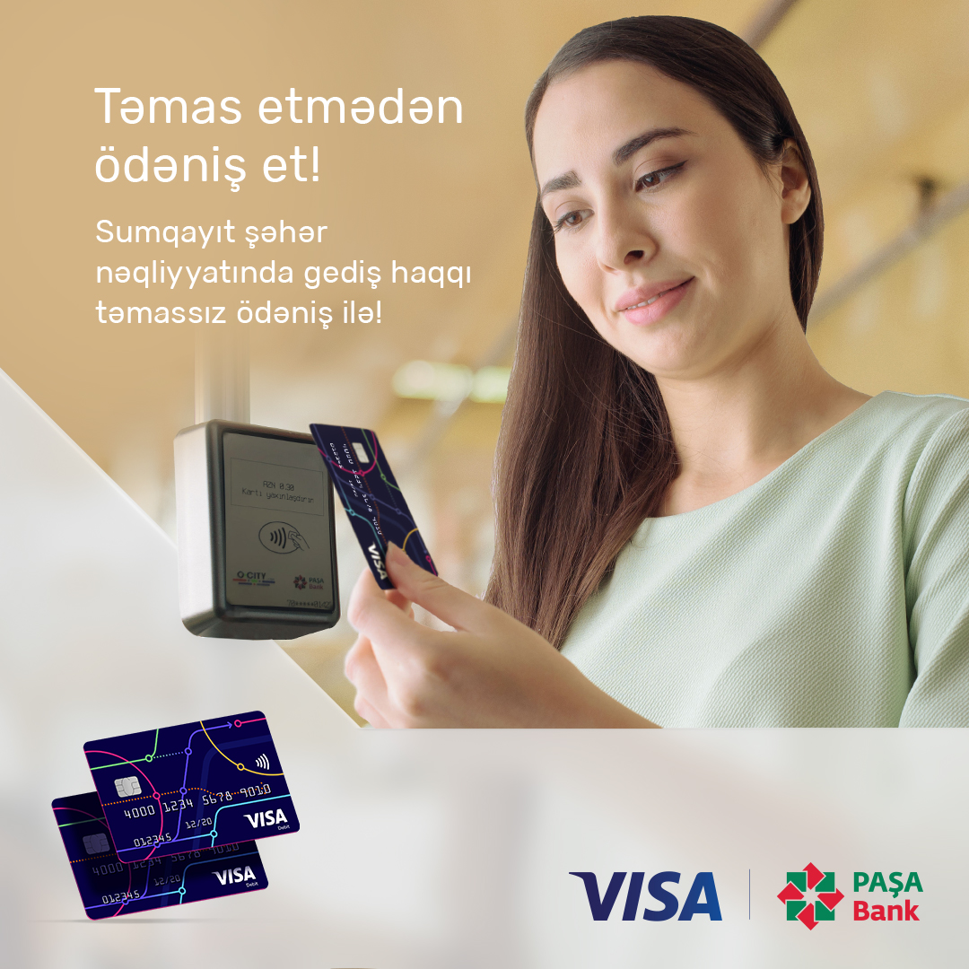 PAŞA Bank Sumqayıt ictimai nəqliyyatında gediş haqqının təmassız ödəniş sistemini təqdim edir
