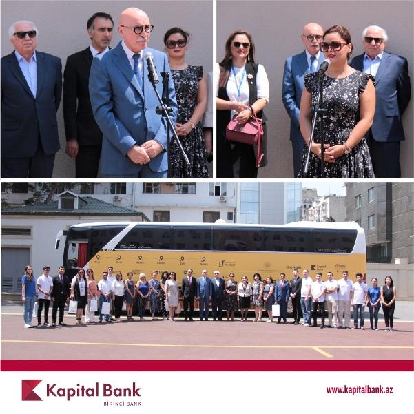 При поддержке Kapital Bank продолжается проект «Təhsil avtobusu»