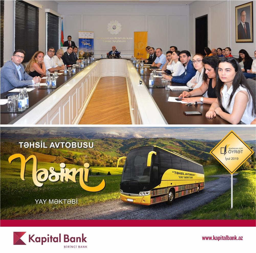 При поддержке Kapital Bank продолжаетсяпроект «Təhsil avtobusu»