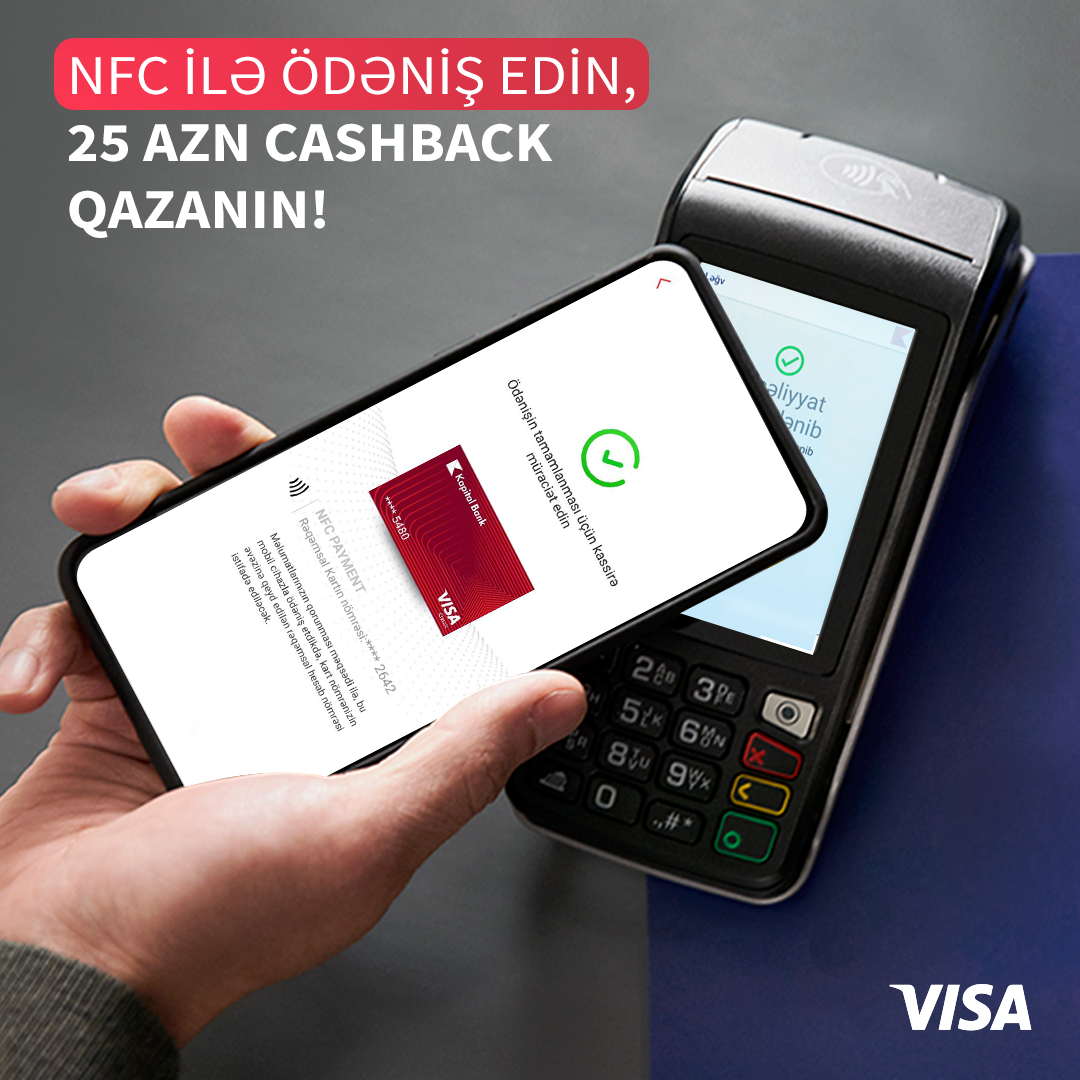 Совершайте NFC-платежи через BirBank, заработайте 25 манатов кешбэка!