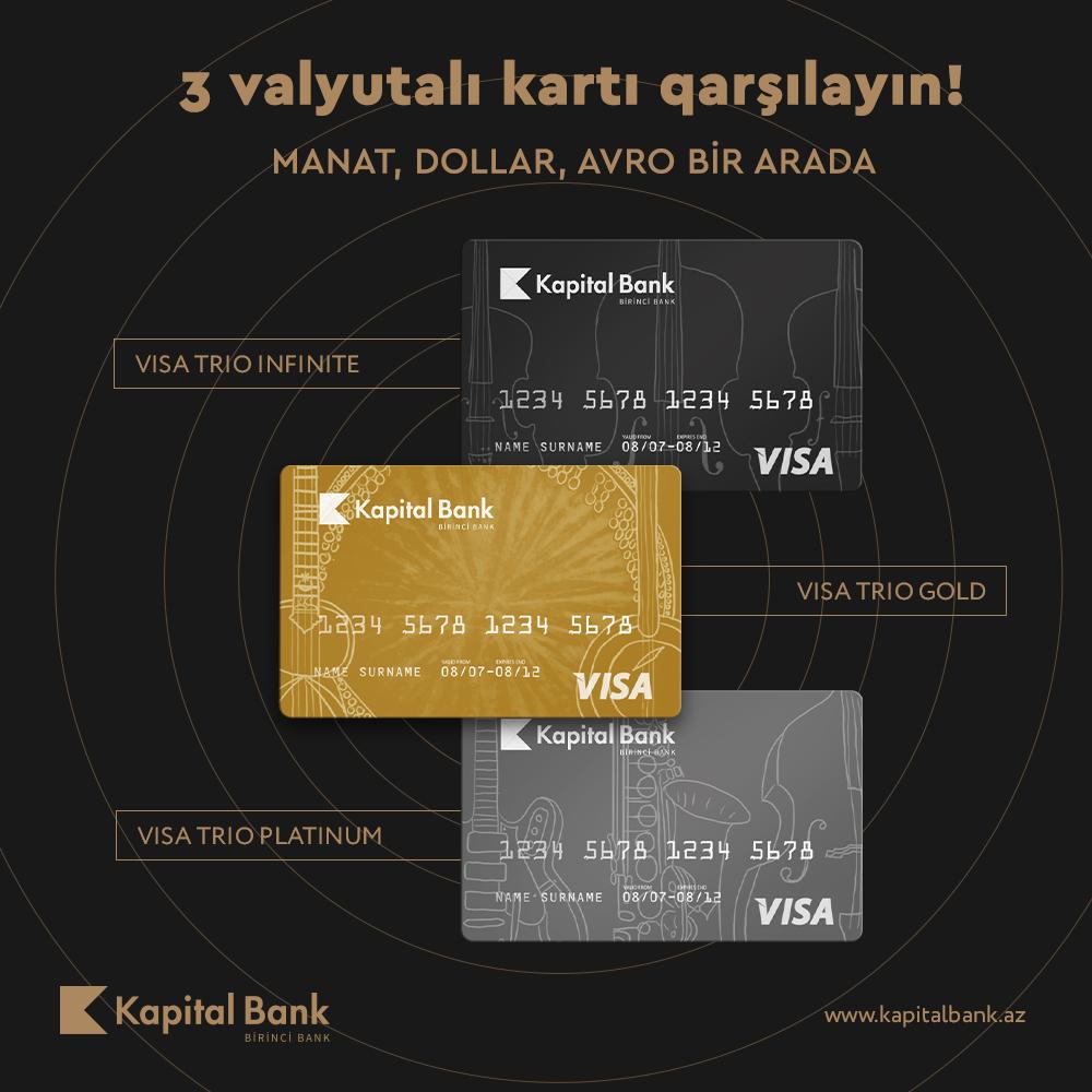 Visa Trio – manat, dollar və avronu birləşdirən kart