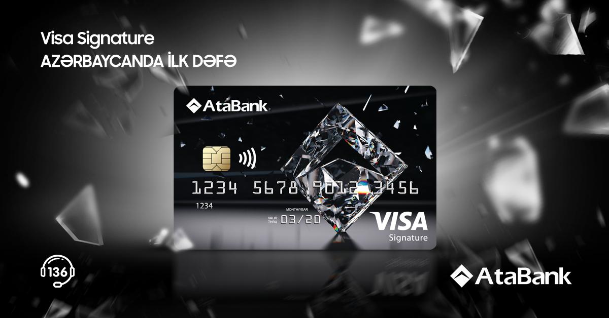 AtaBank Visa Signature kartını təqdim edərək daha bir yeniliyə imza atdı