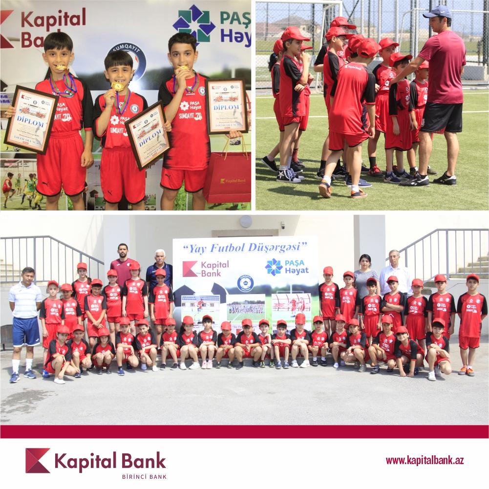При поддержке Kapital Bank проходит традиционный проект «Летний футбольный лагерь»